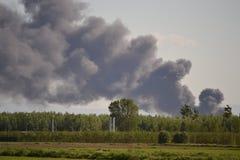 πυρκαγιά εργοστασίων Στοκ Φωτογραφία