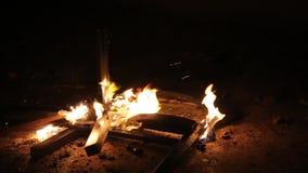 πυρκαγιά εδρών απόθεμα βίντεο