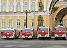 Πυρκαγιά & διάσωση Άγιος-Πετρούπολη, Ρωσία Στοκ Φωτογραφία
