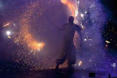 πυρκαγιά Κίεβο φεστιβάλ &t Στοκ Φωτογραφίες