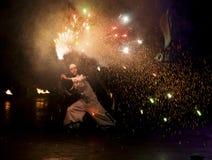 πυρκαγιά Κίεβο φεστιβάλ &t Στοκ Φωτογραφία