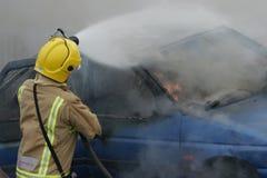 Πυρκαγιά και έκρηξη αυτοκινήτων Στοκ Εικόνες