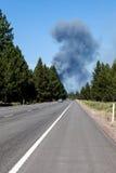 Πυρκαγιά και εθνική οδός στοκ εικόνες