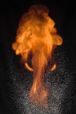 Πυρκαγιά και νερό δύο στοιχείων Στοκ εικόνα με δικαίωμα ελεύθερης χρήσης