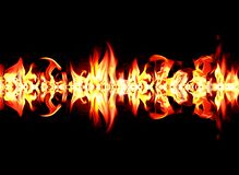 Πυρκαγιά και φλόγες με ένα σκοτάδι καψίματος - κόκκινο - πορτοκαλί υπόβαθρο Πυρκαγιά και φλόγες διανυσματική απεικόνιση