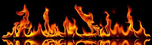 Πυρκαγιά και φλόγες. Στοκ Εικόνα