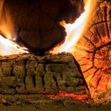 Πυρκαγιά και χόβολη Στοκ φωτογραφία με δικαίωμα ελεύθερης χρήσης
