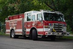Πυρκαγιά κοιλάδων Tualatin και παραϊατρικό φορτηγό διάσωσης στοκ εικόνα