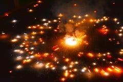 Πυρκαγιά κροτίδων ιερών οστών Asoka Στοκ φωτογραφία με δικαίωμα ελεύθερης χρήσης
