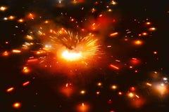 Πυρκαγιά κροτίδων ιερών οστών Asoka Στοκ Εικόνες