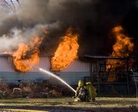 πυρκαγιά μαχητών Στοκ Φωτογραφία
