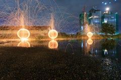 Πυρκαγιά μαλλιού χάλυβα Στοκ εικόνα με δικαίωμα ελεύθερης χρήσης