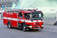 πυρκαγιά μηχανών του 2009 ndp Στοκ εικόνα με δικαίωμα ελεύθερης χρήσης