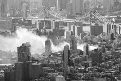 πυρκαγιά Νέα Υόρκη πόλεων στοκ φωτογραφία με δικαίωμα ελεύθερης χρήσης