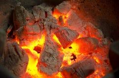 Πυρκαγιά ξυλάνθρακα Στοκ Φωτογραφία