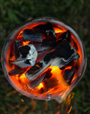 Πυρκαγιά ξυλάνθρακα στοκ εικόνες με δικαίωμα ελεύθερης χρήσης