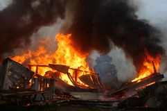 πυρκαγιά οικοδόμησης Στοκ Εικόνα