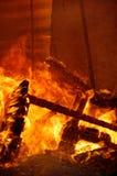 πυρκαγιά οικοδόμησης Στοκ Φωτογραφίες