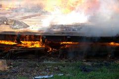 Πυρκαγιά οικοδόμησης Στοκ Φωτογραφία