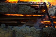 Πυρκαγιά οικοδόμησης Στοκ φωτογραφίες με δικαίωμα ελεύθερης χρήσης