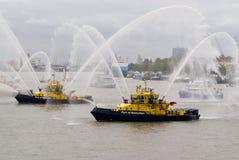 πυρκαγιά πάλης βαρκών Στοκ φωτογραφίες με δικαίωμα ελεύθερης χρήσης