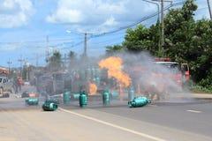 Πυρκαγιά πάλης μαχητών Στοκ Εικόνες
