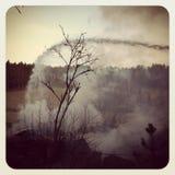 πυρκαγιά πεδίων που βάζε&iota Στοκ εικόνα με δικαίωμα ελεύθερης χρήσης