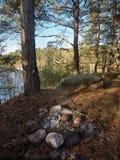 Πυρκαγιά που εξαφανίζεται παλαιά Στοκ φωτογραφίες με δικαίωμα ελεύθερης χρήσης