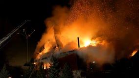 Πυρκαγιά Πυρκαγιά και καύση κόλασης φλόγας Στοκ Φωτογραφίες
