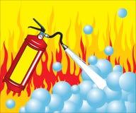 πυρκαγιά πυροσβεστήρων Στοκ φωτογραφία με δικαίωμα ελεύθερης χρήσης