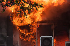 Πυρκαγιά πόλεων Στοκ φωτογραφία με δικαίωμα ελεύθερης χρήσης