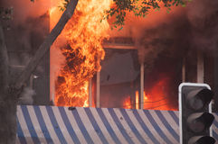 Πυρκαγιά πόλεων Στοκ φωτογραφίες με δικαίωμα ελεύθερης χρήσης