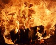 Πυρκαγιά σε μια εστία στοκ εικόνες