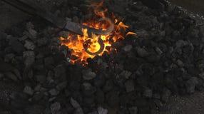 Πυρκαγιά σιδηρουργών Στοκ Φωτογραφίες