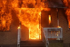 Πυρκαγιά σπιτιών Στοκ φωτογραφίες με δικαίωμα ελεύθερης χρήσης