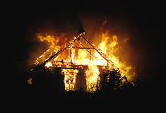 Πυρκαγιά σπιτιών Στοκ εικόνα με δικαίωμα ελεύθερης χρήσης