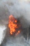 Πυρκαγιά σπιτιών, Montezuma, Iowa, ημέρα των ευχαριστιών Στοκ εικόνα με δικαίωμα ελεύθερης χρήσης