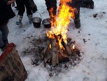 Πυρκαγιά στην εκστρατεία Στοκ Εικόνες