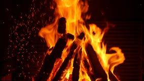 Πυρκαγιά στην εστία απόθεμα βίντεο