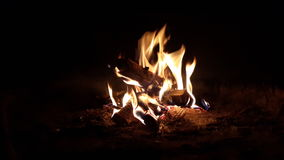 Πυρκαγιά στη σόμπα Στοκ Εικόνες