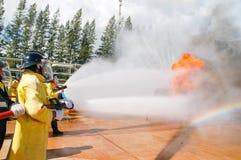 Πυρκαγιά στις διδασκαλίες του Υπουργείου επειγουσών καταστάσεων Στοκ φωτογραφία με δικαίωμα ελεύθερης χρήσης