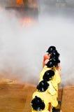 Πυρκαγιά στις διδασκαλίες του Υπουργείου επειγουσών καταστάσεων Στοκ εικόνες με δικαίωμα ελεύθερης χρήσης