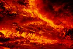 Πυρκαγιά στον ουρανό Στοκ Εικόνα