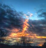 Πυρκαγιά στον ουρανό στοκ φωτογραφίες