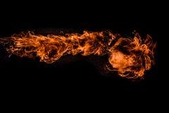 Πυρκαγιά στο μαύρο υπόβαθρο Στοκ εικόνες με δικαίωμα ελεύθερης χρήσης