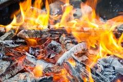 Πυρκαγιά στρατόπεδων Στοκ εικόνες με δικαίωμα ελεύθερης χρήσης