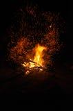Πυρκαγιά στρατόπεδων Στοκ Φωτογραφίες