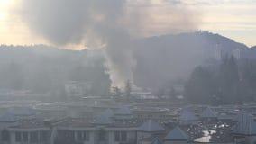 Πυρκαγιά συγκροτημάτων κατοικιών απόθεμα βίντεο