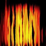 Πυρκαγιά σύστασης στο μαύρο υπόβαθρο ελεύθερη απεικόνιση δικαιώματος