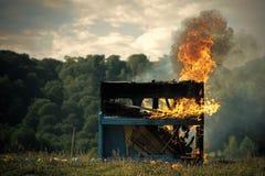 Πυρκαγιά, τέχνη, αποκριές, απορρίμματα, φωτιά Στοκ Εικόνα